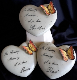 Butterfly on Heart Plaque