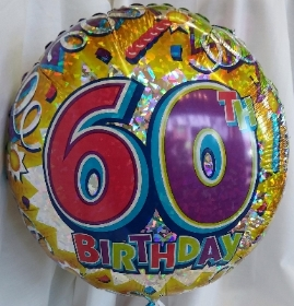 Age Balloons 50th to 100th Birthday