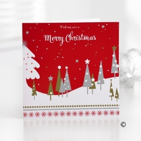 Red Christmas Greetings Card