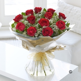 Red Rose Handtied